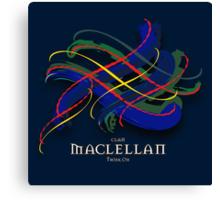 MacLellan Tartan Twist Canvas Print