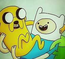Adventure Time, Jake and Finn Phone/iPod case by MadeleineJane