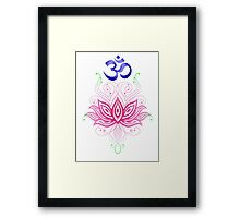 Lotus-Om Framed Print