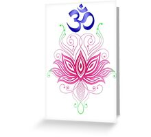 Lotus-Om Greeting Card