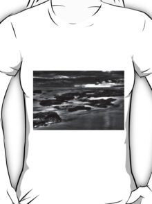 Rocks at Sunset 2 BW T-Shirt