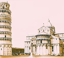 The Baptistry of St John and Leaning Tower Of Pisa by creativetravler