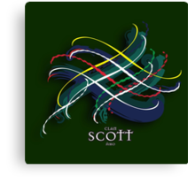 Scott Tartan Twist Canvas Print