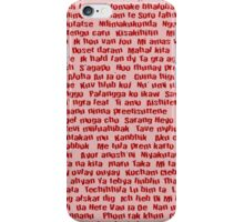 100 Ways To Say I love You  iPhone Case/Skin