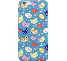 pattern of portraits of cats iPhone Case/Skin