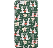 pattern of rabbit lovers iPhone Case/Skin