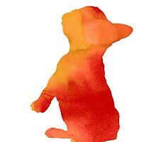 French bulldog for kids silhouette by Joanna Szmerdt