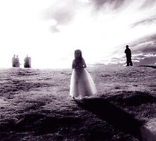 Infra Red Wedding darkroom print by Arran Pratt
