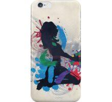 Grunge illustration of a music DJ iPhone Case/Skin