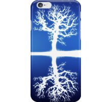 Big moon and white tree silhouette iPhone Case/Skin