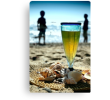 Beer at the Beach Canvas Print