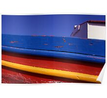 Greece. Colourful Fishing Boat Poster