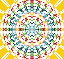 Colorful flowers kaleidoscope by lalylaura