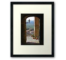 Pienza in Tuscany Framed Print