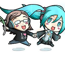 Axel & Miku 2 (special command for a friend) by TheArtPanda
