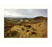 The rolling hills of Bantry Art Print