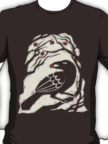 Autumn Berries Bird Print T-Shirt