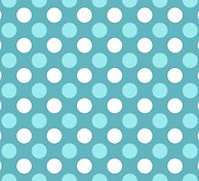 Blue and White Polka Dot Pattern by sale