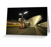 rotterdam central station at night Greeting Card