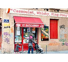 Cassoulet, Whiskey, Ping-Pong Photographic Print
