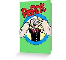 Popeye Greeting Card