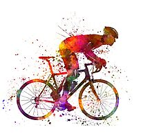cyclist road bicycle Photographic Print
