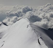 Descent from Castor (Swiss Alps) by Marion Joncheres