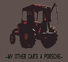 TRACTOR CUTOUT with Text - my other car's a porsche.... by nayamina