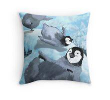 Penguin Slide Throw Pillow