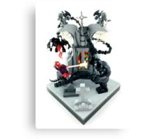 Spidy vs. Venom Canvas Print