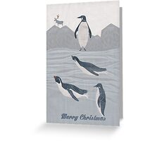 penguins winter Greeting Card