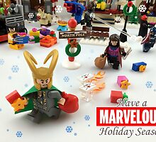 """Marvelous"" LEGO Holiday Card Collection by Ryan Rydalch"