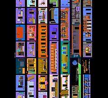 Maniac Mansion rooms by javigarma