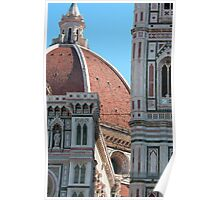 Duomo and Campanile Tower, Florence Poster