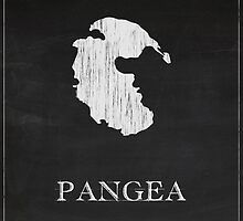 Pangea Chalk Drawing by FinlayMcNevin