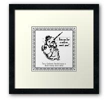 Fancy Gentleman Narwhal Framed Print