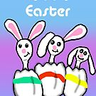 Easter Egg Bunnies by Rajee