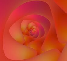 Spiral Labyrinth in Pink and Orange by Objowl