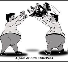 a pair or nun chuckers by kev howlett