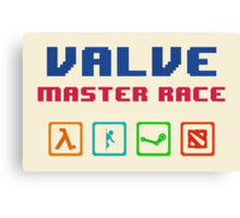 VALVE master race Canvas Print