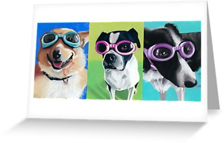 Dogs in Goggles by ria hills