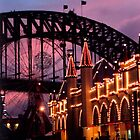 Luna Park and Sydney Harbor Bridge by Night by Brebe