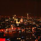 London's City Skyline By Night by Graham Ettridge
