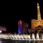 Vibrant Las Vegas - Bellagio's Fountains, Paris, Bally's and Flamingo by Georgia Mizuleva