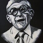 George Burns Portrait Illustration by Frank Stillitano