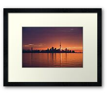 Bright and Orange Toronto Sunrise Framed Print
