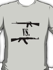 M16 vs. AK47 T-Shirt