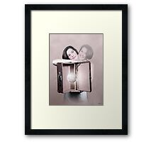 My love and me Framed Print