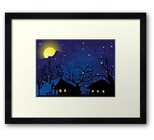 night village Framed Print
