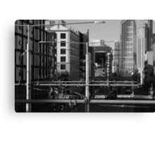 Melbourne Morning Streetscape Number 2 Canvas Print